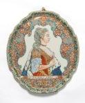 • D1236. Rare And Important Pair Of Royal Portrait Plaques