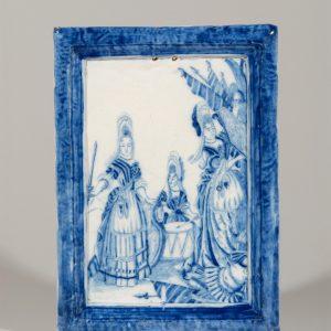 D0727. Blue And White Rectangular Plaque