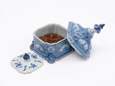 Dutch Delft Pottery Of Tobacco Jar