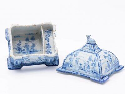 Antique Delftware Rectangular Box