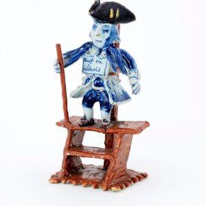 Antique Delft Pottery Polychrome Figure Of A Criminal