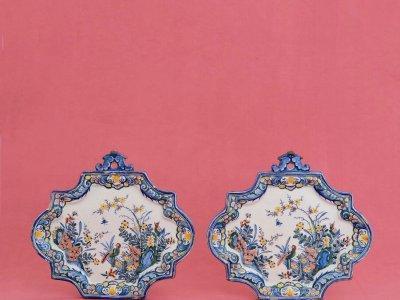Antique Dutch Pottery Of Polychrome Plaques