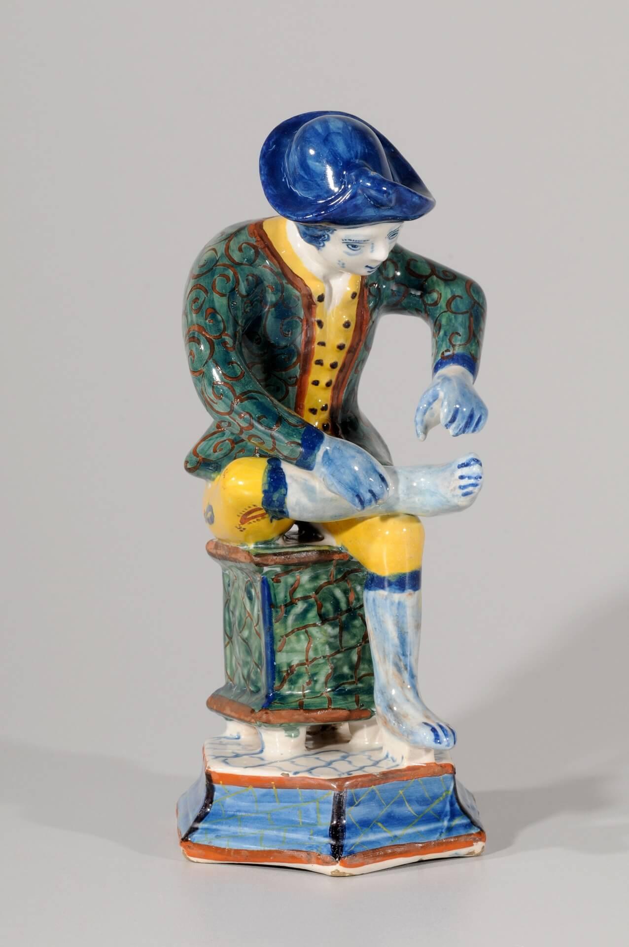 Delft Holland Ceramics polychrome figurine of man