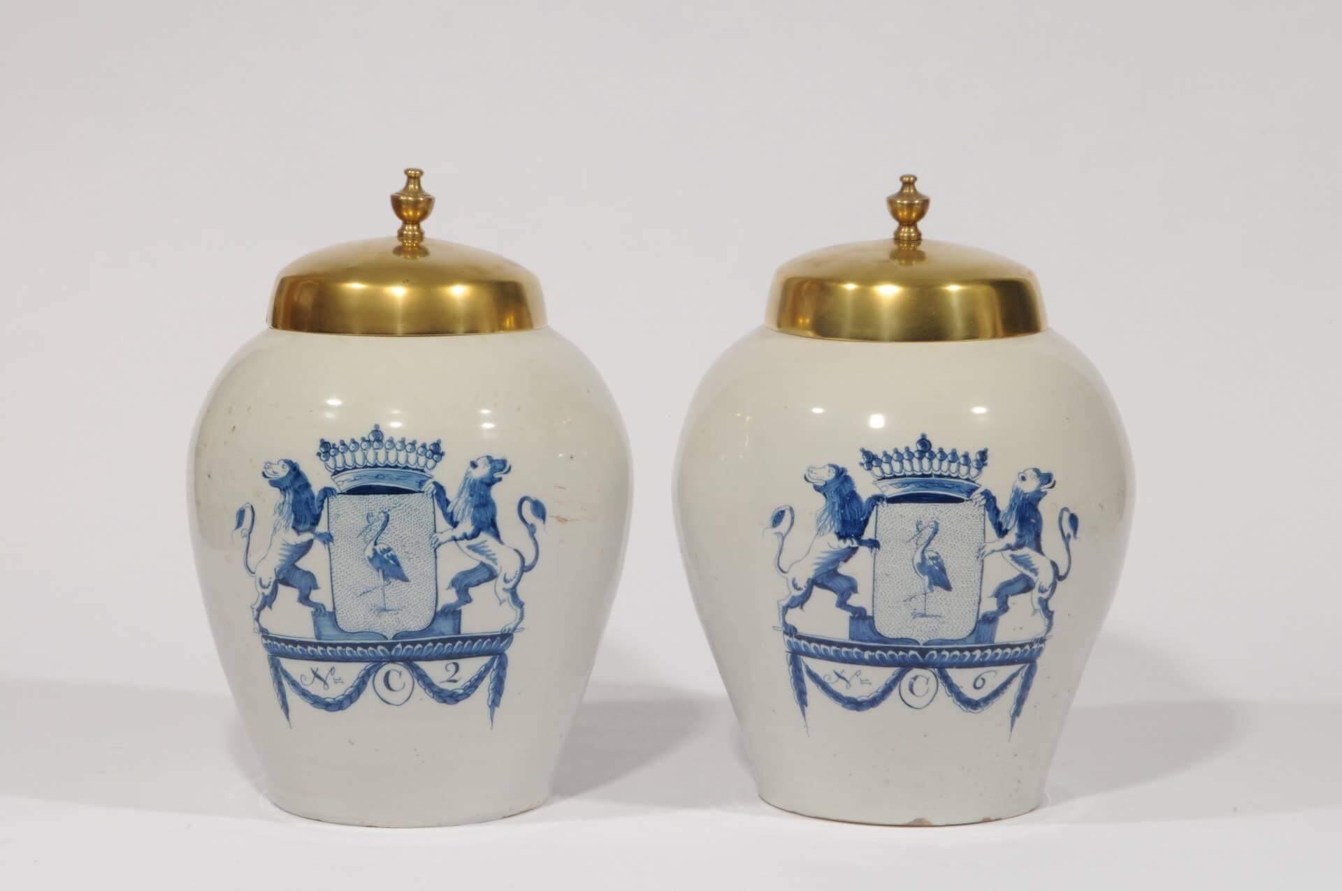 Antique dutch pottery tobacco jars Aronson Antiquairs