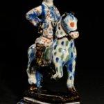 • D9025. 'Black Delftware' Equestrian Group