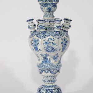 Large Antique Delftware Tulip Vase