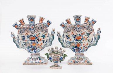 • D1228. Pair Of Massive 'Cashmire' Palette Flower Vases