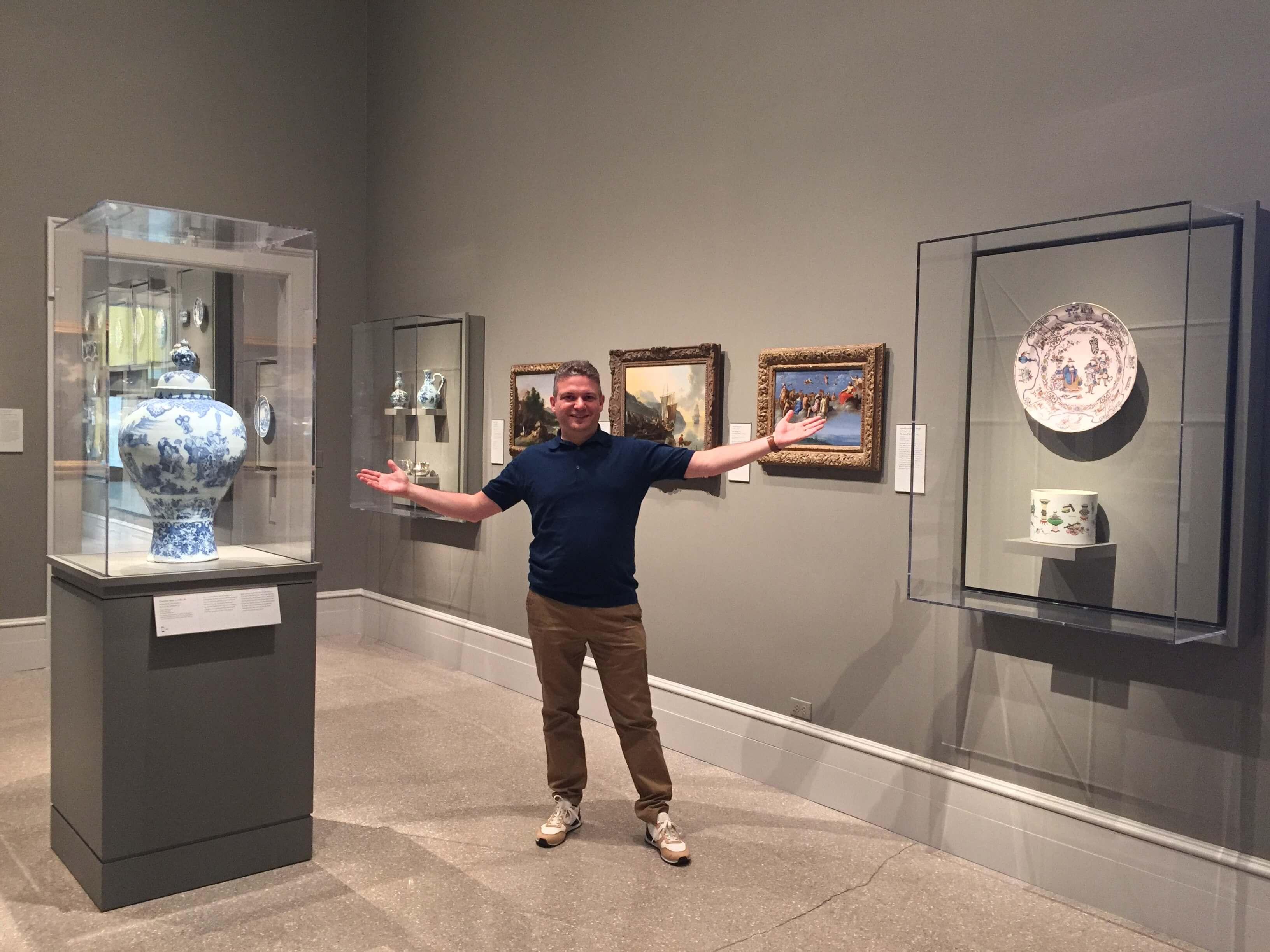 Robert Aronson in Wadsworth Atheneum Museum, Hartford, CT