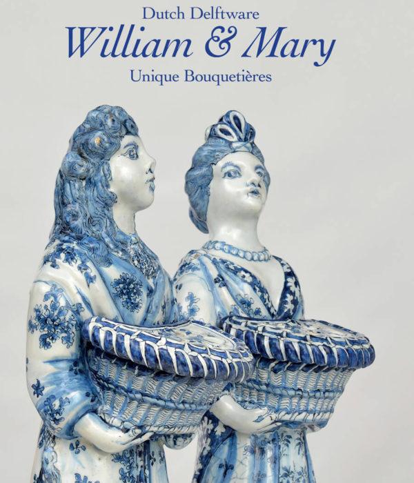 Cover of Aronson Antiquairs' publication about a pair of unique bouquetières