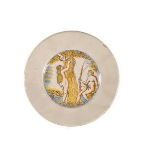 Polychrome Biblical Plate