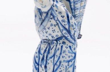 • D1233. Blue And White Figural Flower-Holder