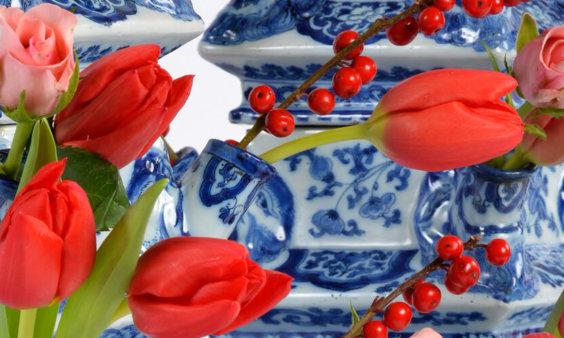 aronson deltware lavish tulipieres cover