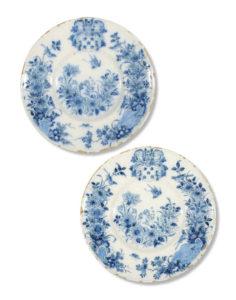 Pair Armorial Plates