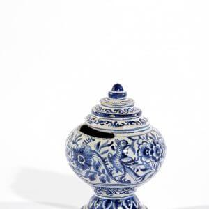 Antique Delft Pottery Money Bank Aronson Antiquairs