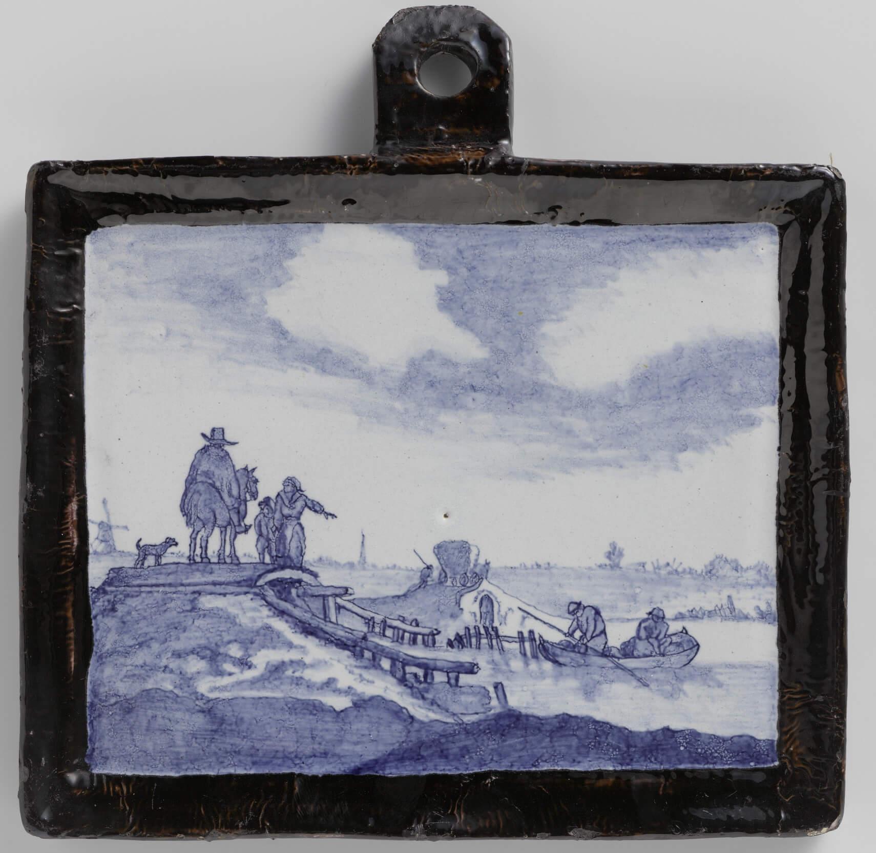 BK-KOG-2570 - Plaque, Delft circa 1770-1775. Rijksmuseum, Amsterdam