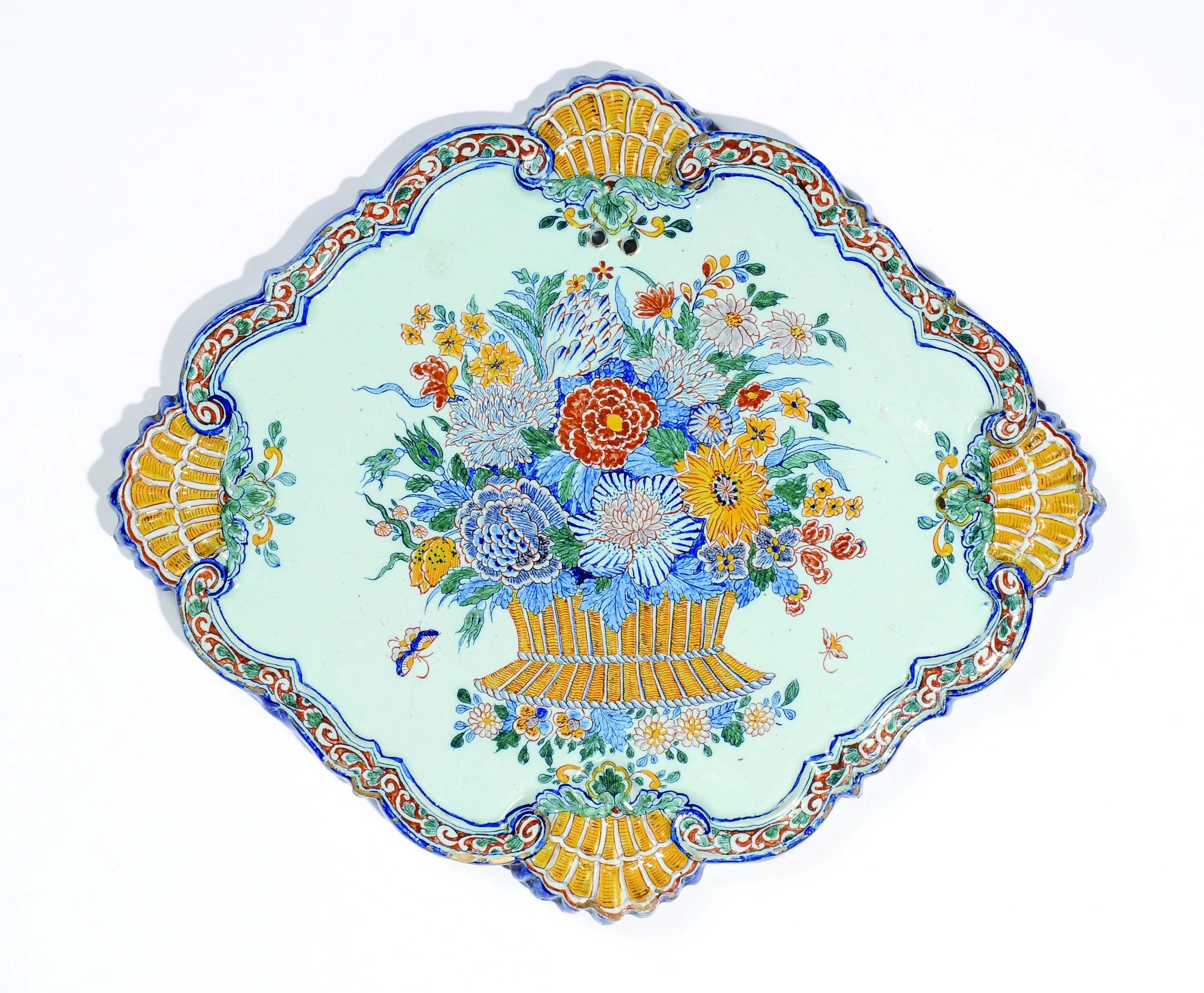 8250 Polychrome Floral Plaque