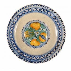 • D1502. Majolica Polychrome Large Dish