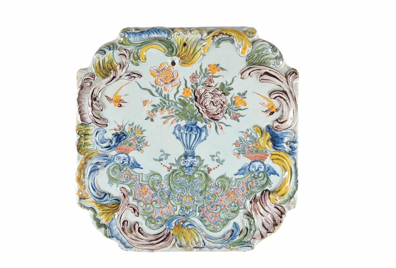 antique polychrome octagonal plaques