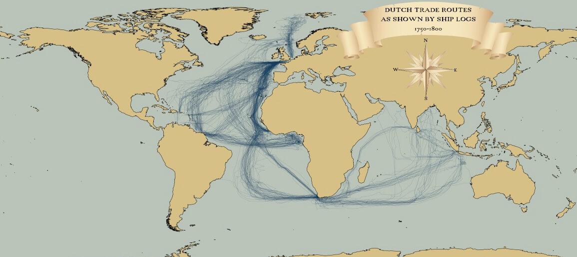 VOc trading routes