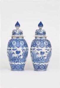 Delftware Large Ovoid Vases