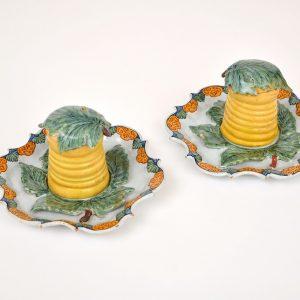 Delftware Polychrome Honey Pots Antiques By Aronson Antiquairs