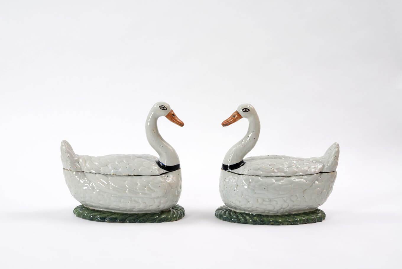 Pair of Swan Tureens