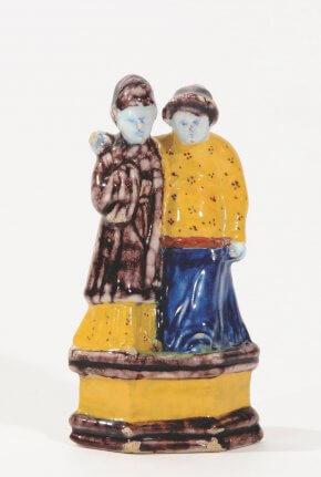 Ceramic Chinoiserie Figures Of Oriental Couple