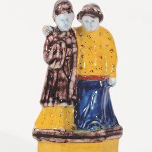 D1011. Polychrome Group Of An Oriental Couple