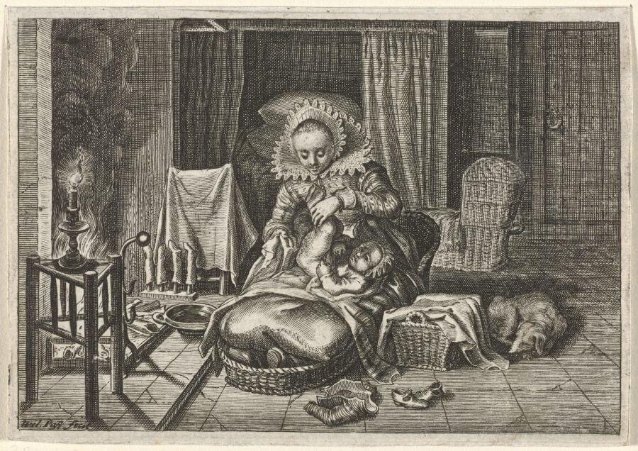 vrouw-verschoont-een-kind-willem-van-de-passe-1624-engraving-77-x-111-mm-rijksmuseum-amsterdam-inv-no-rp-p-1938-1427