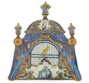 Birdcage Plaque, Delftware. Museum Of Decorative Arts, Paris
