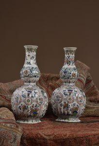 Pair of Cashmere Palette Vases