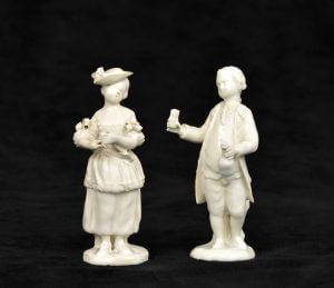 White Ceramic Delft Figurines Aronson Antiquairs