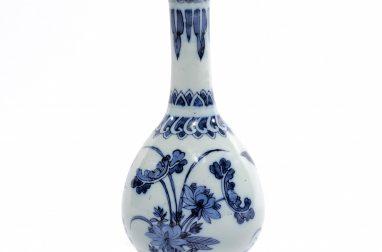 D1606. Blue And White Bottle Vase