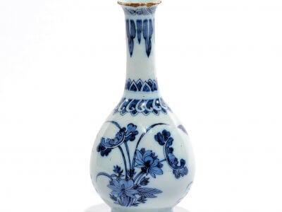 De Grieksche A Delftware Blue And White Bottle Vase At Aronson Antiquairs
