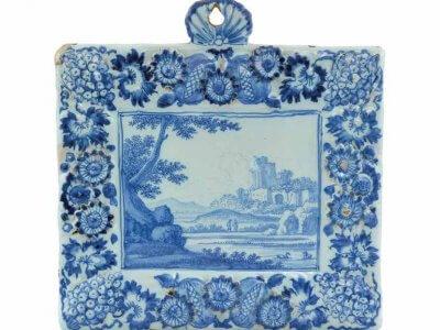 Rectangular Ceramic Delftware Plate From Frederik Van Frijtom