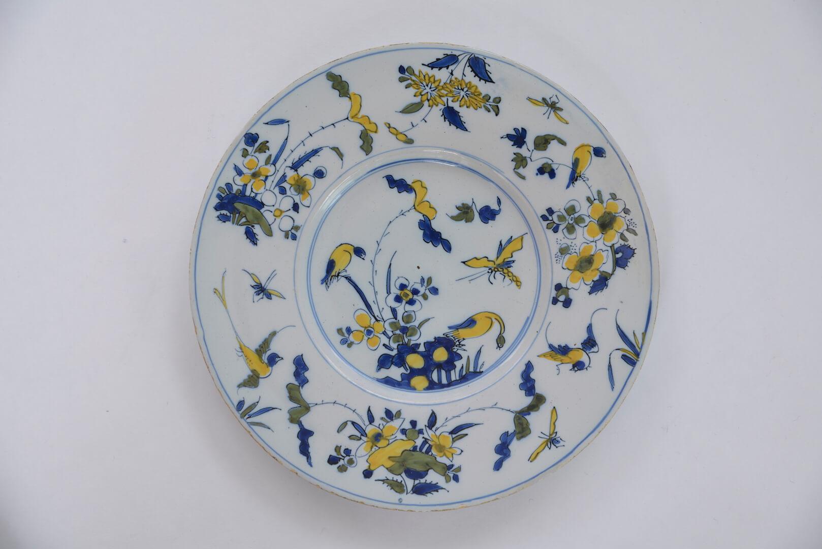 Polychrome plate De Paauw factory