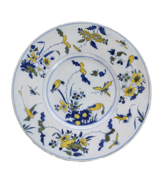 Antique polychrome plate Aronson