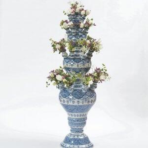 •D1717. Blue And White Baluster-Shaped Flower Vase