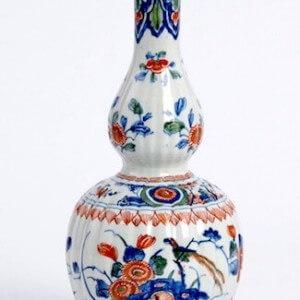 Pieter Adriaensz Gourd Shaped Delftware Vase