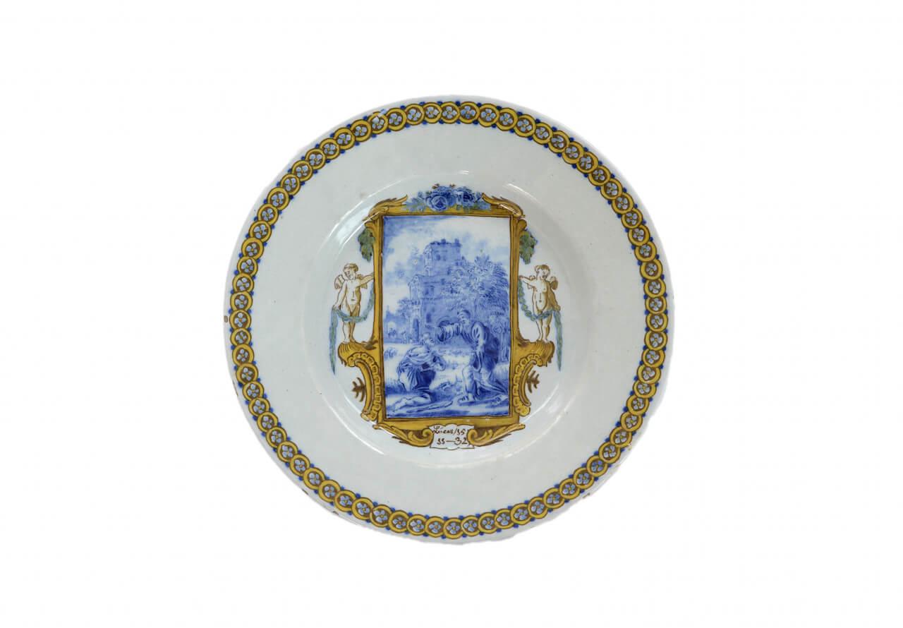 1255 Polychrome Biblical Plate