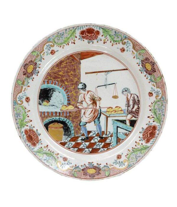 Antique Petit Feu Bakery Plate Aronson Antiquairs