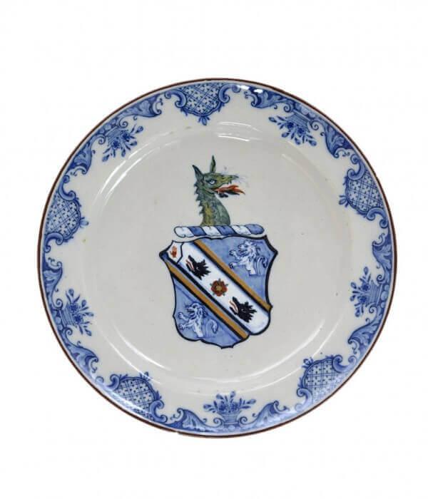 1367 Polychrome Armorial Plate