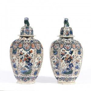 Cashmere Ovoid Vases Antique Aronson Antiquairs