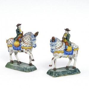 Polychrome Equestrian Figure Aronson Antiquairs