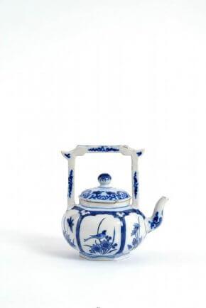 Ceramic Blue And White Teapot