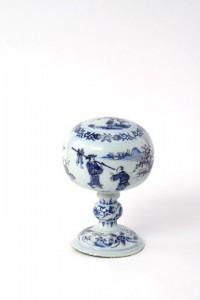Antique Wig Stand Delftware