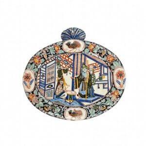 D1725. 'Black Delft' Oval Plaque