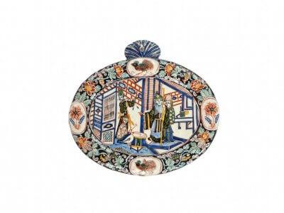 Ceramic Black Delft Plaque Aronson Antiquairs