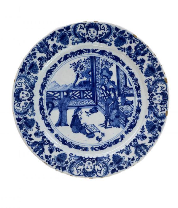 antique chinoiserie plate Aronson Antiquaire