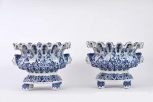 Aronson Antiquairs Delftware Wine Coolers